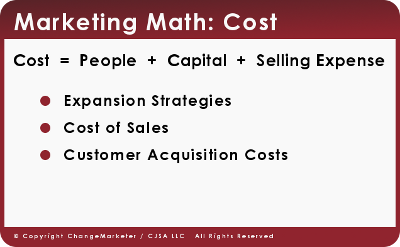 Marketing Math: Cost